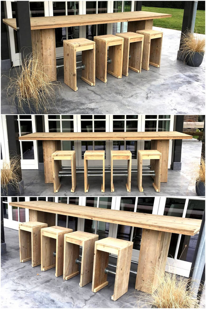 reclaimed wood pallets patio seating