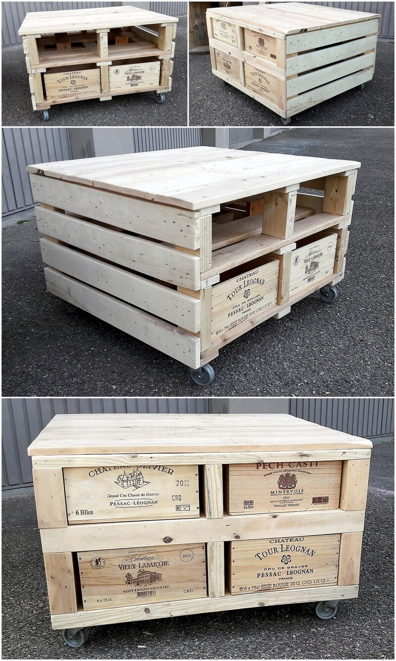 recycled pallets coffee table