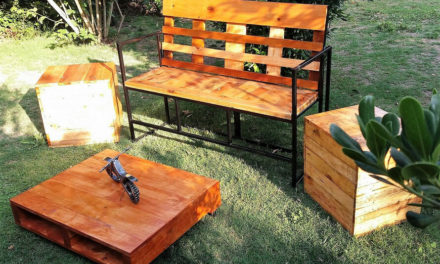 Reclaimed Pallets Garden Furniture Set