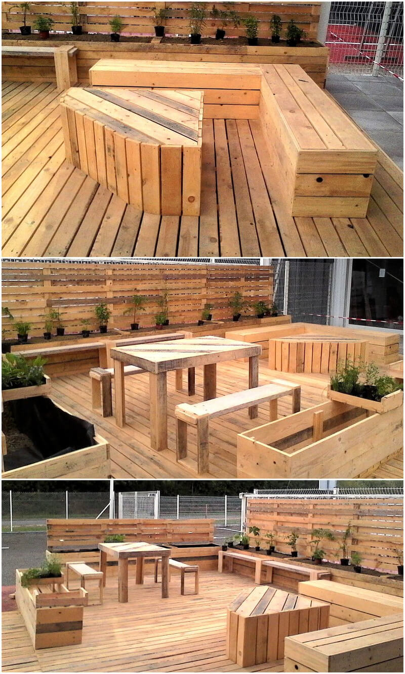 recycled pallets made terrace