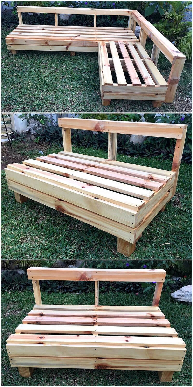 repurposed pallet garden furntiure set