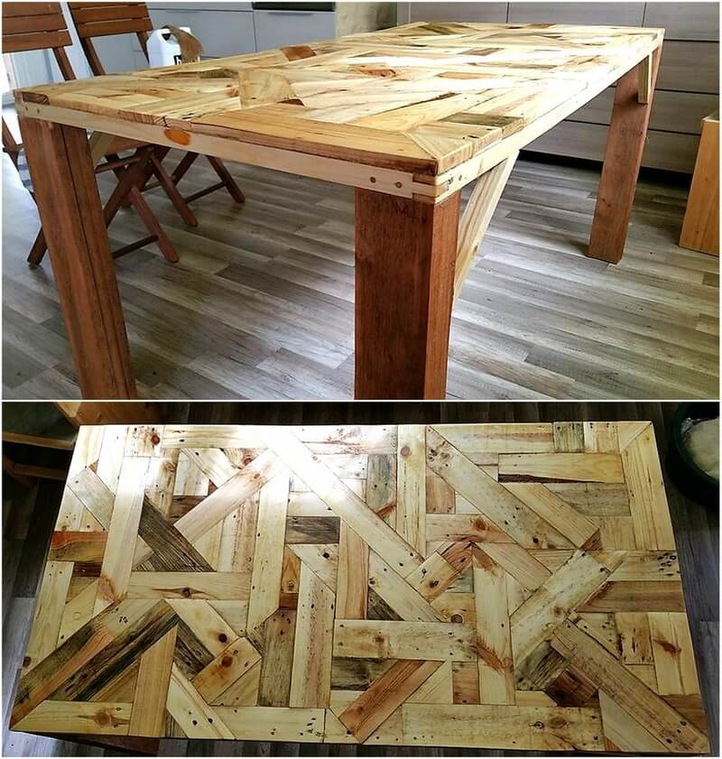 repurposed pallet table 1