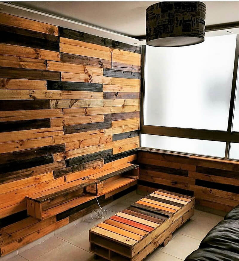 repurposed pallet wood wall art