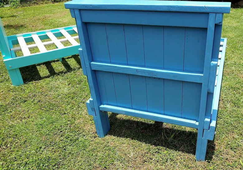 repurposed wood pallet bed frame