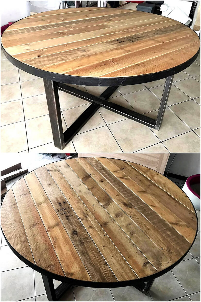 repurposed wood pallet table idea