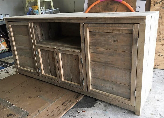 rustic pallet tv stand