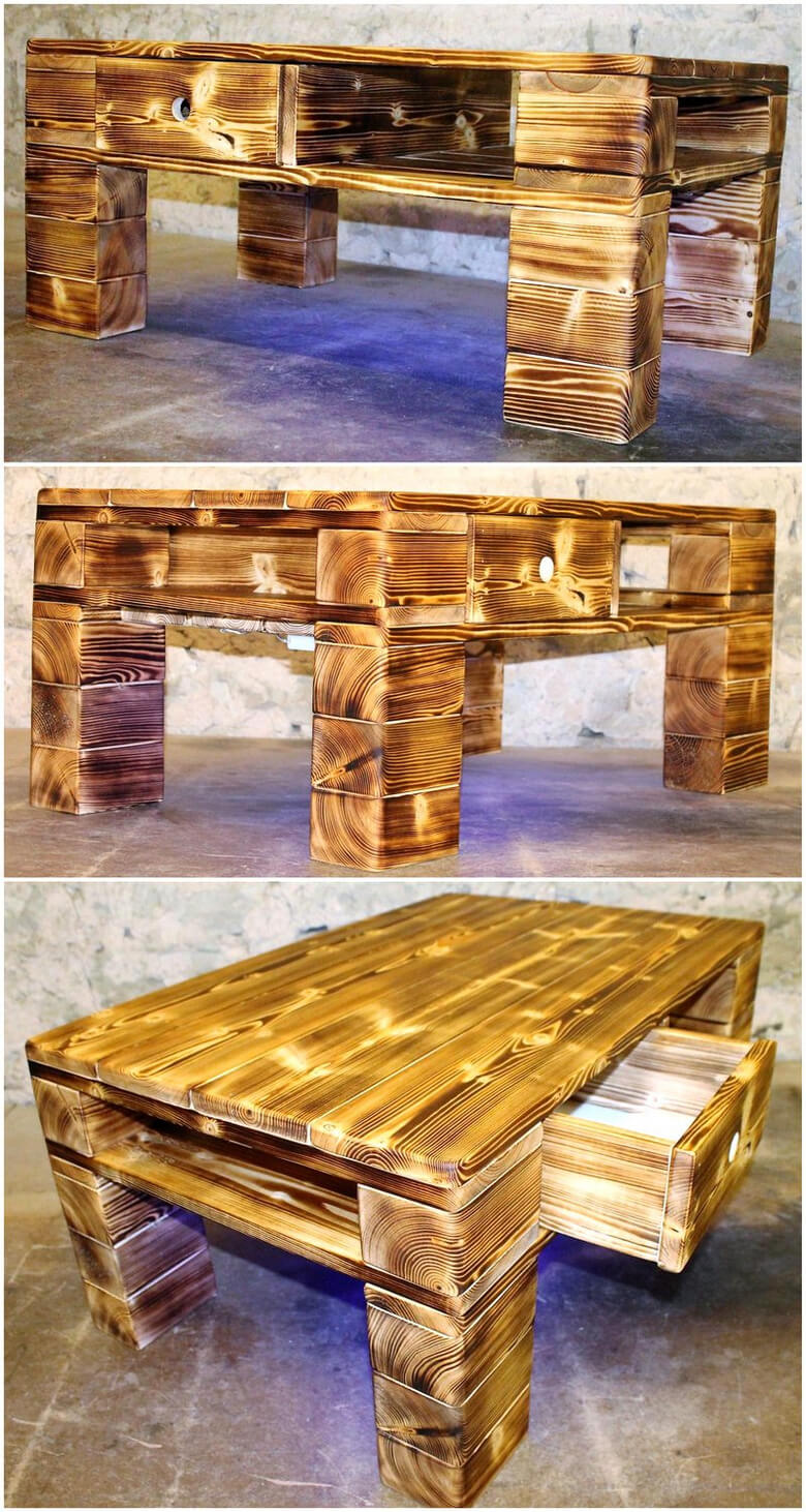 rustic pallet wooden table