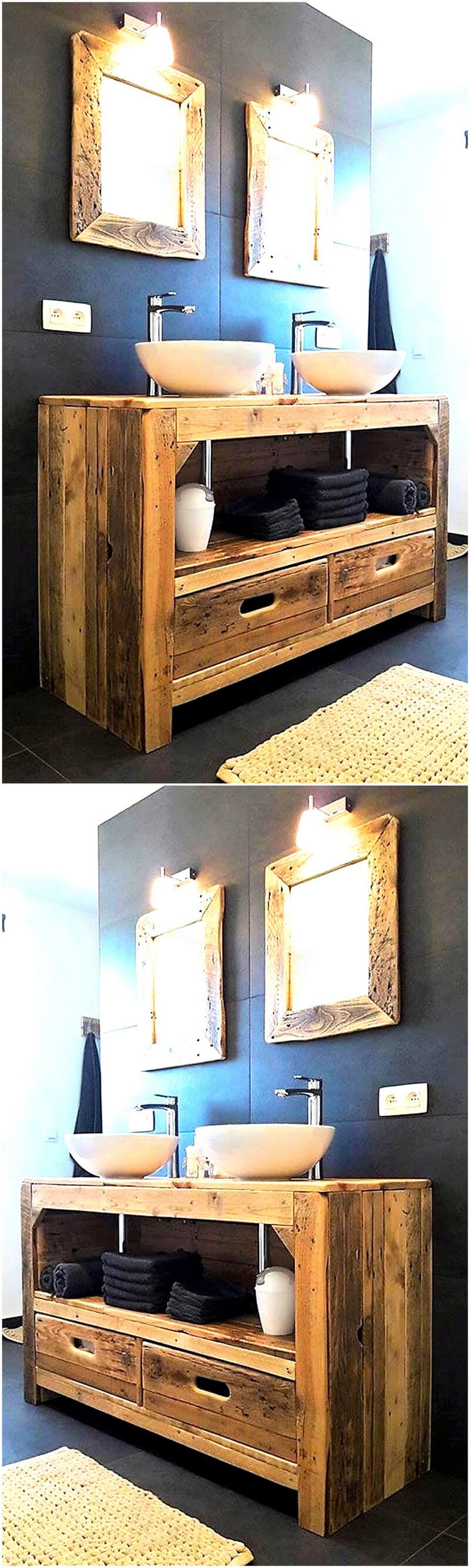 rustic sink plan with pallets