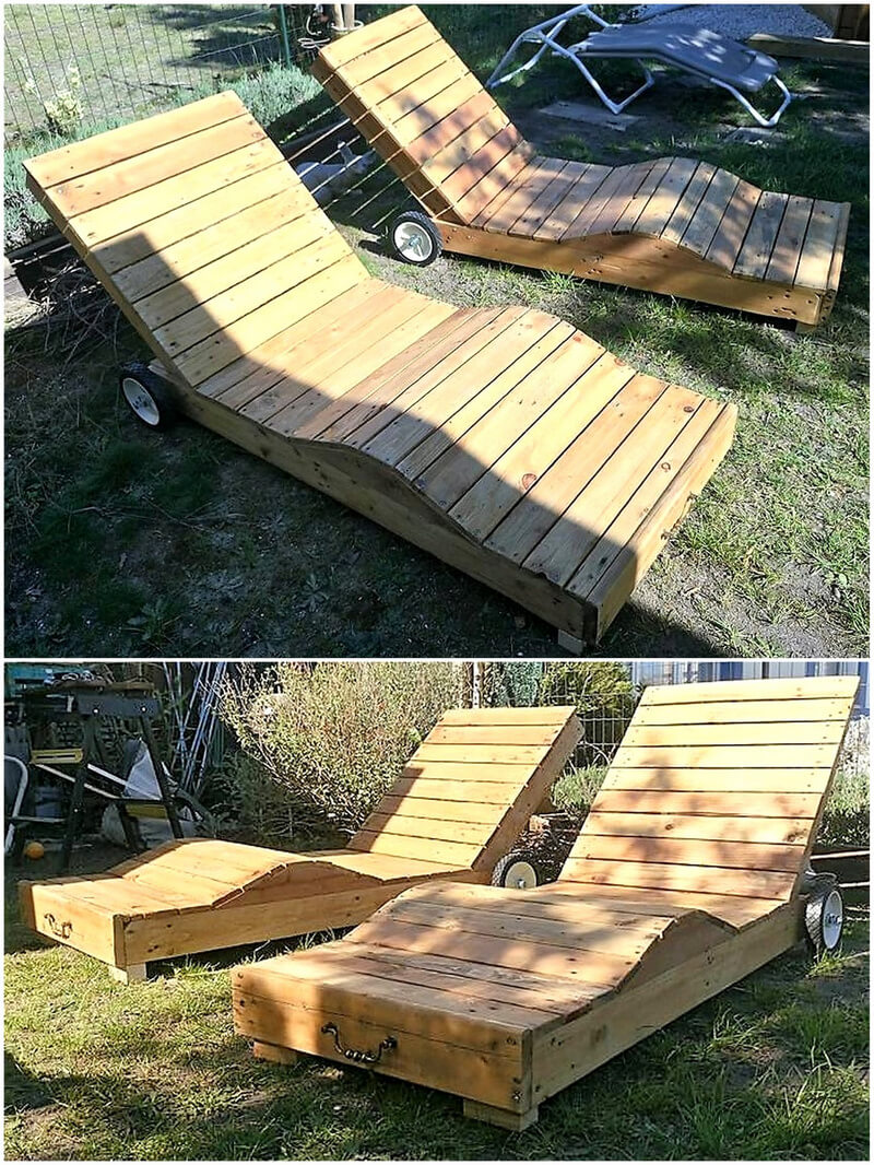 sunbath lounger with pallets