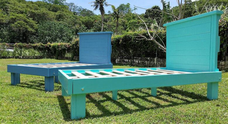 wood pallet bed frame idea