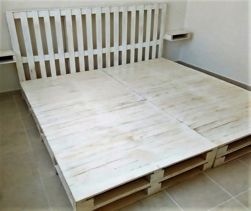 wood pallet bed frame plan