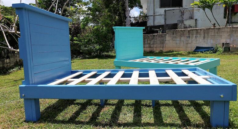 wood pallet bed frame project