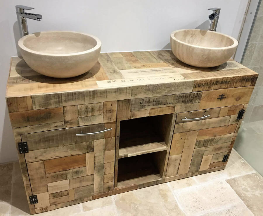 wood pallet made sink idea