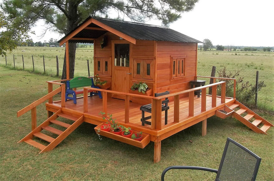 wood pallet patio cabin deck