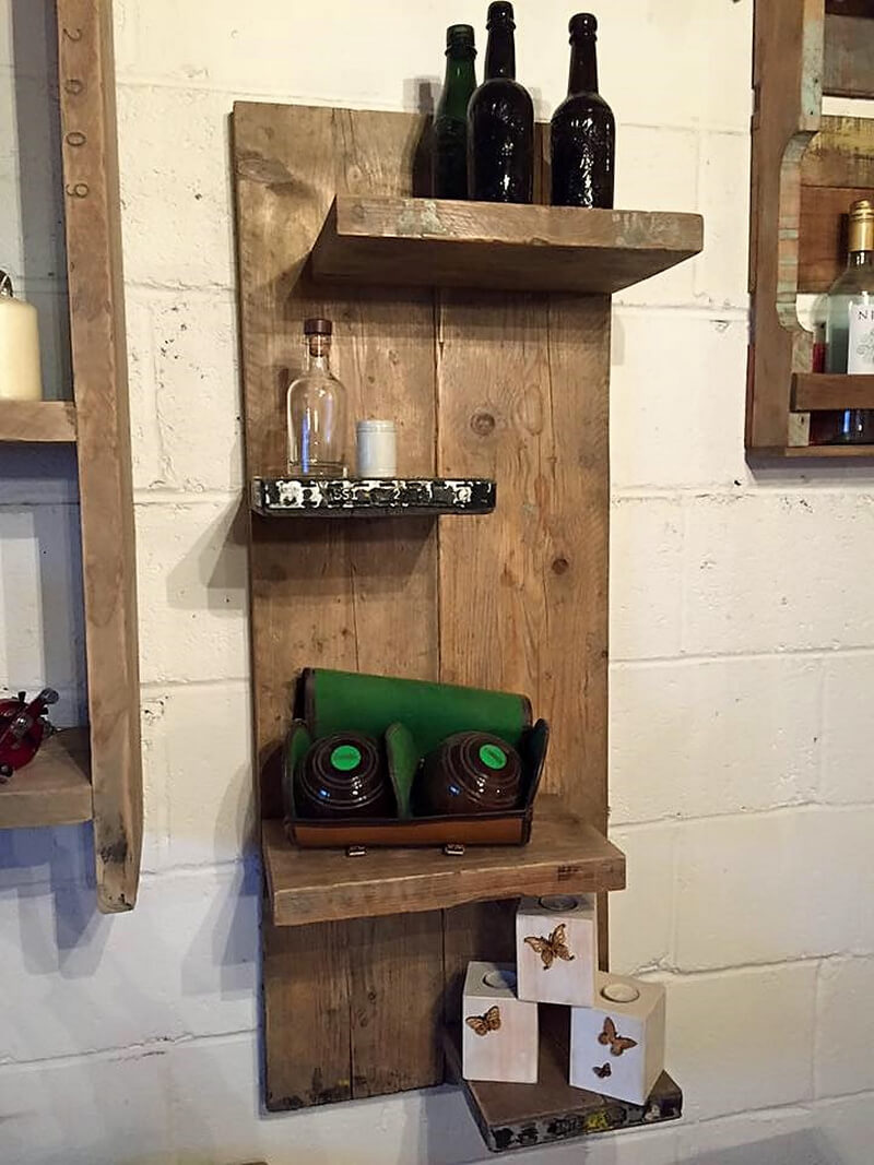 wood pallet shelving