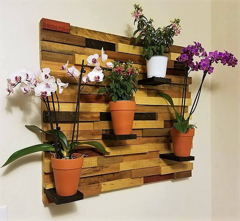 wood pallet wall decor planter