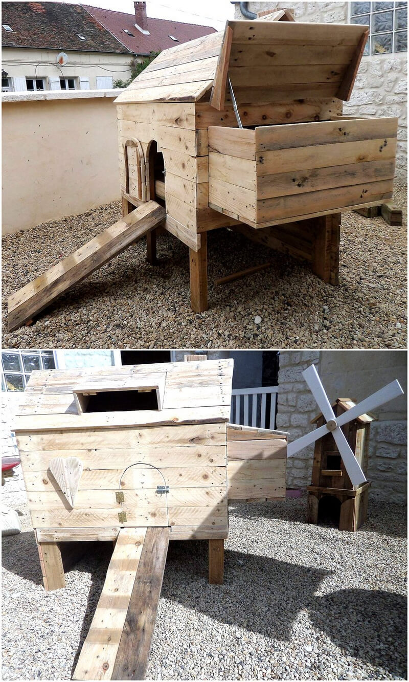 Some interesting diy plans with wood pallets pallet ideas Chicken coop from pallet wood
