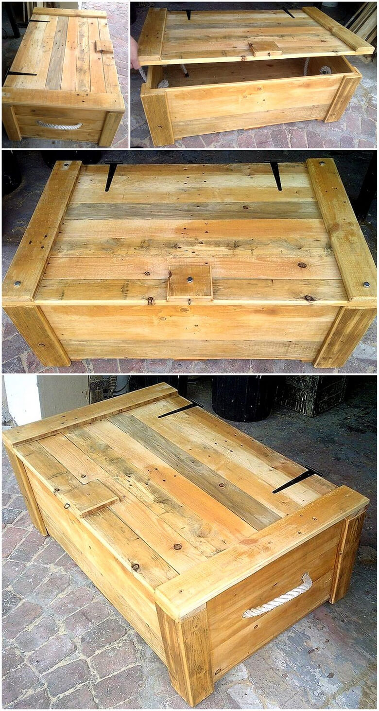 wooden pallet recycled chest