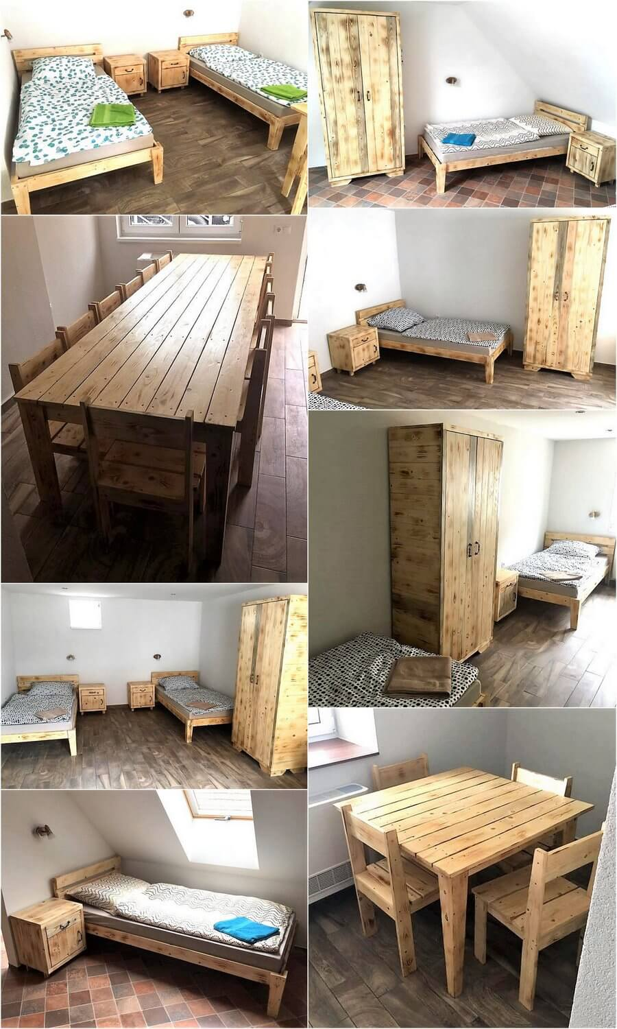 Delicieux Boarding House Furniture Made With Recycled Pallets
