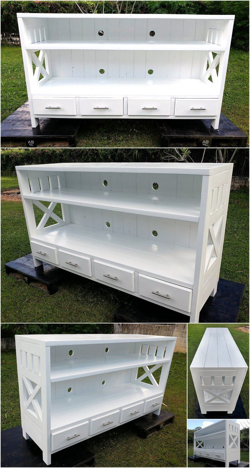 Recycled Wood Pallets Made Entertainment Center