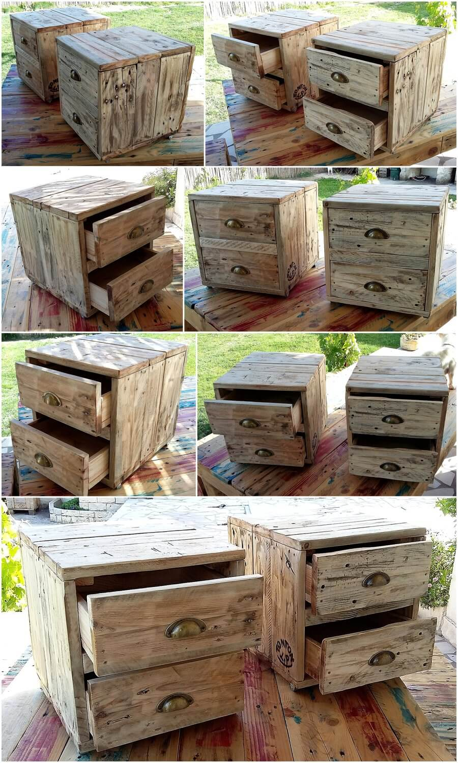 Rustic Night Tables Out of Recycled Wood Pallets
