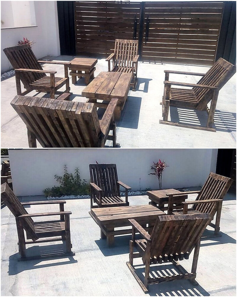 outdoor furniture out of pallets