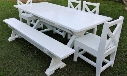 Wooden Pallets Made Dining Set Plan