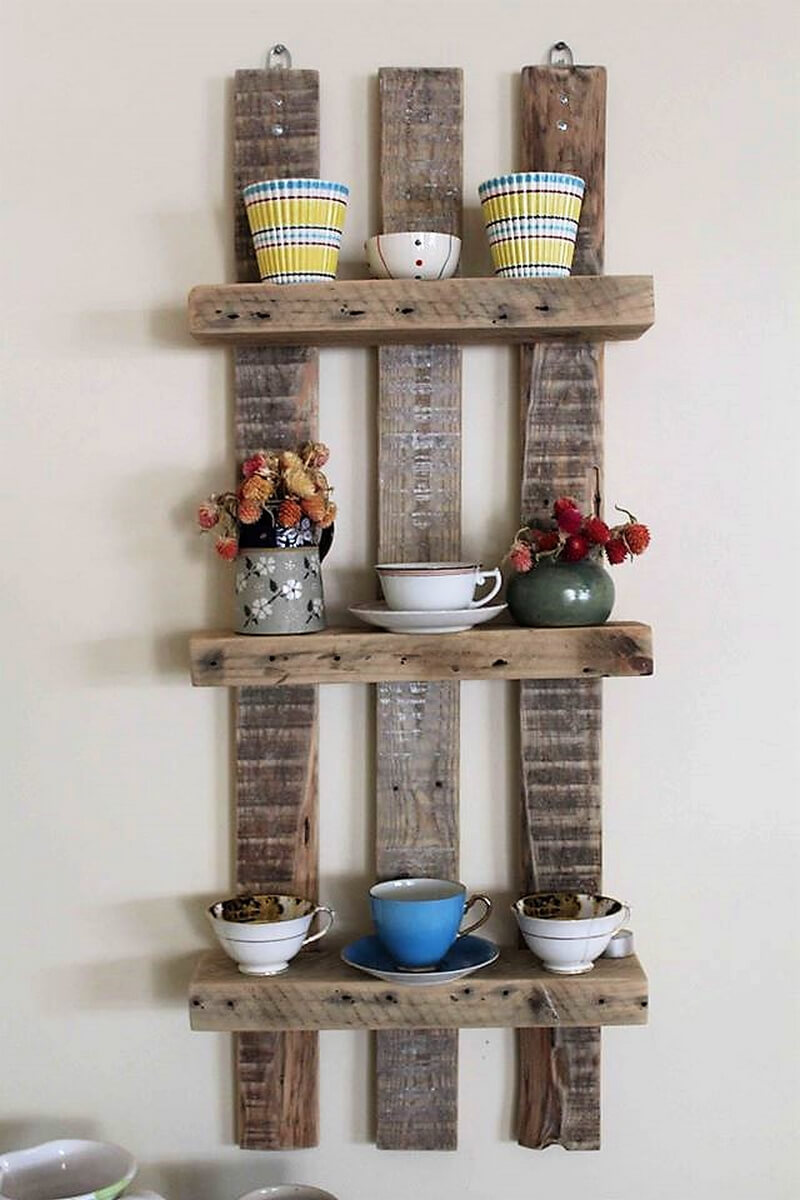pallet kitchen shelving idea