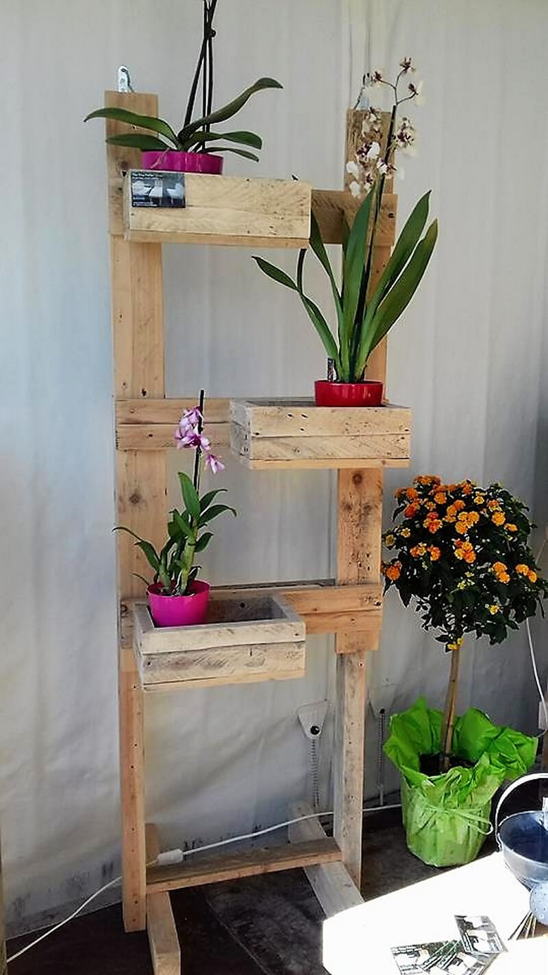 pallet made planter tree