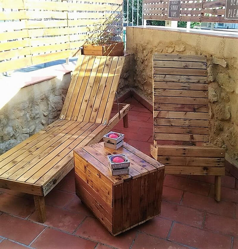pallet sun lounger furniture