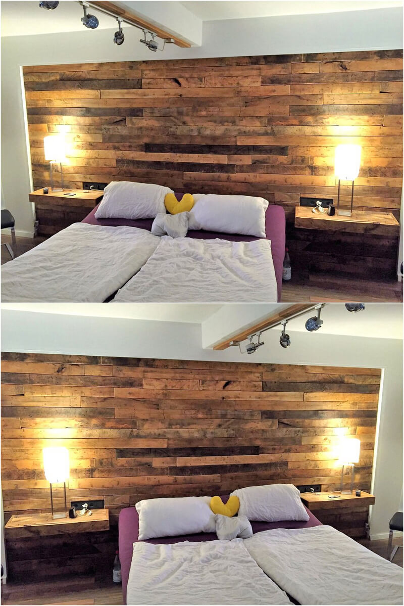 pallets bed headboard plan
