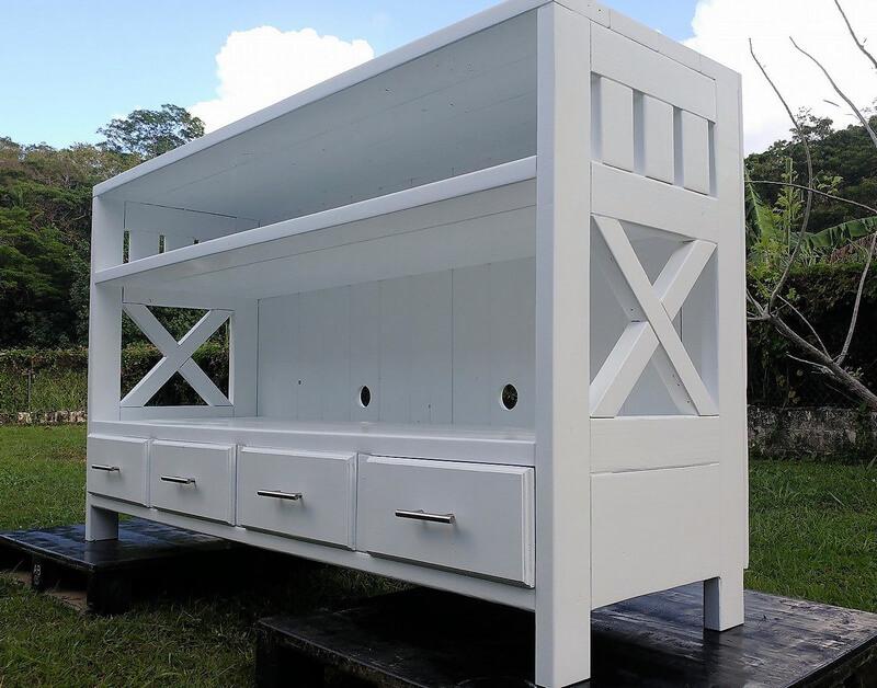 pallets made entertainment center