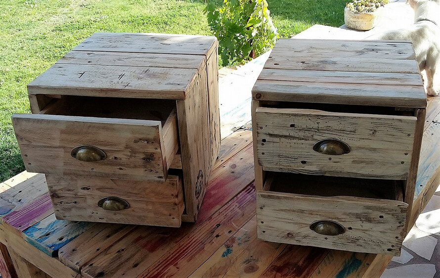 pallets made rustic side tables