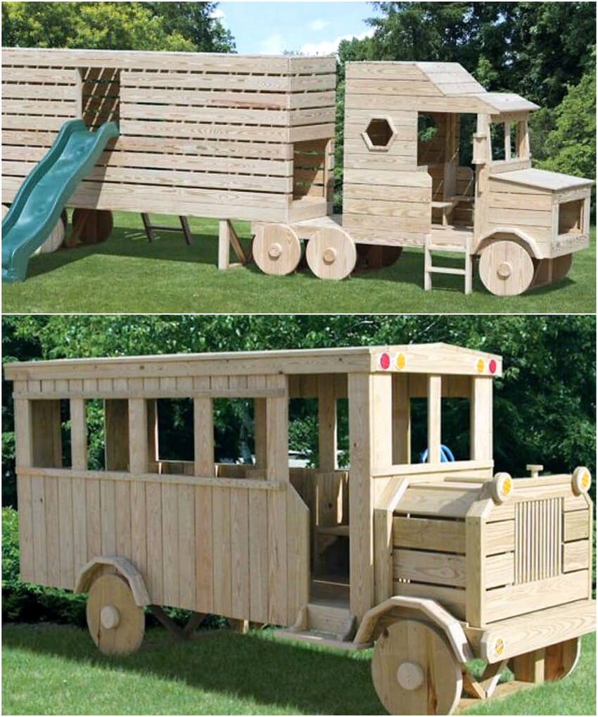 pallets play truck for kids