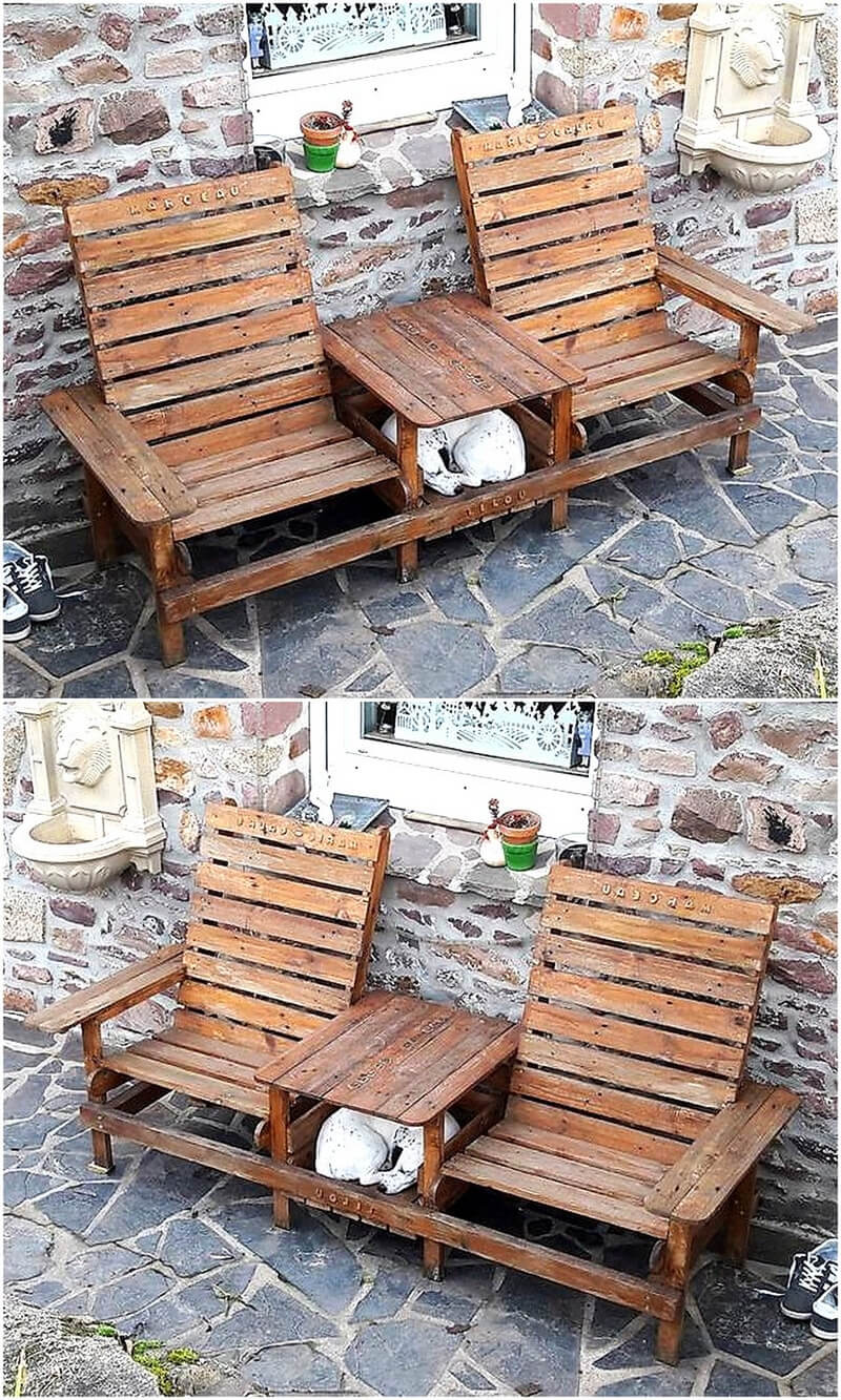 Creative realizations with recycled wooden pallets for Creative pallet