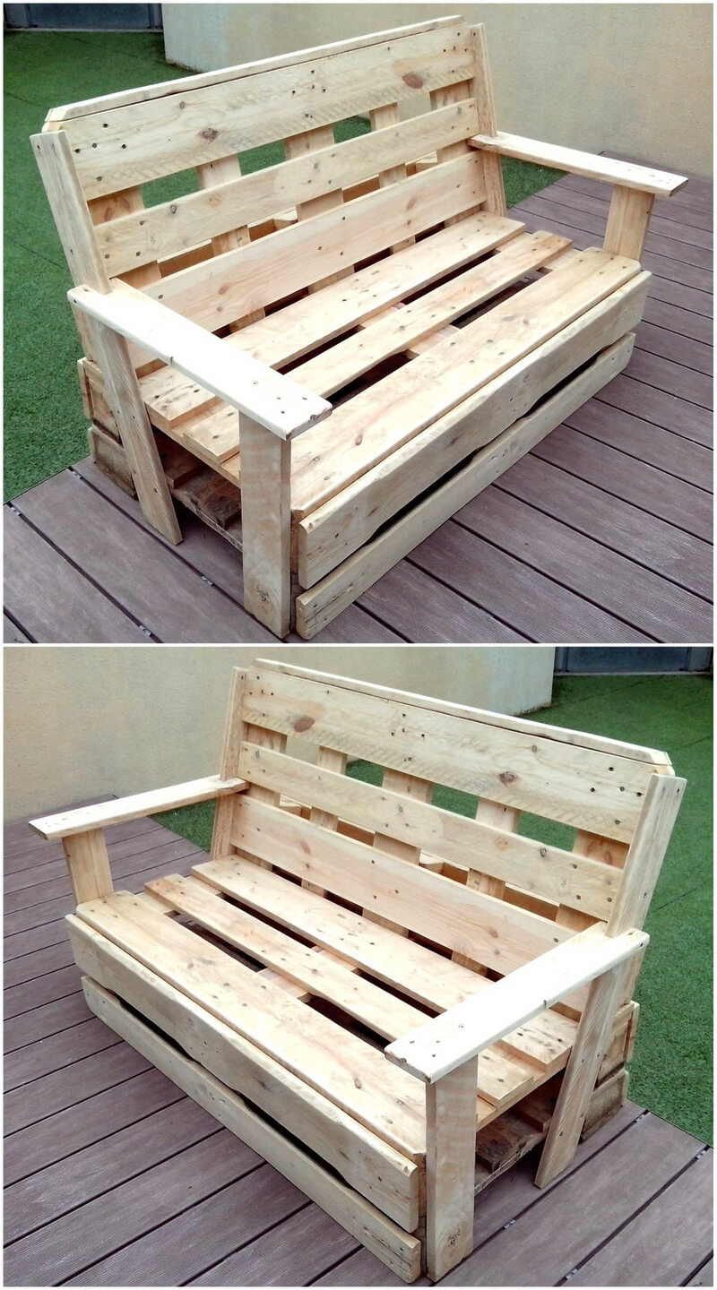 recycled pallet bench project