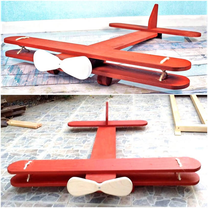 recycled pallet plane for kids
