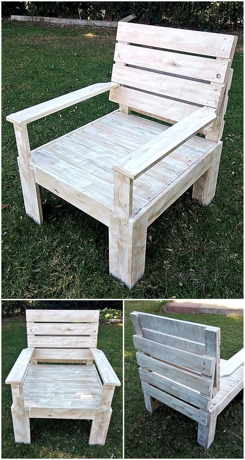recycled pallets garden chair