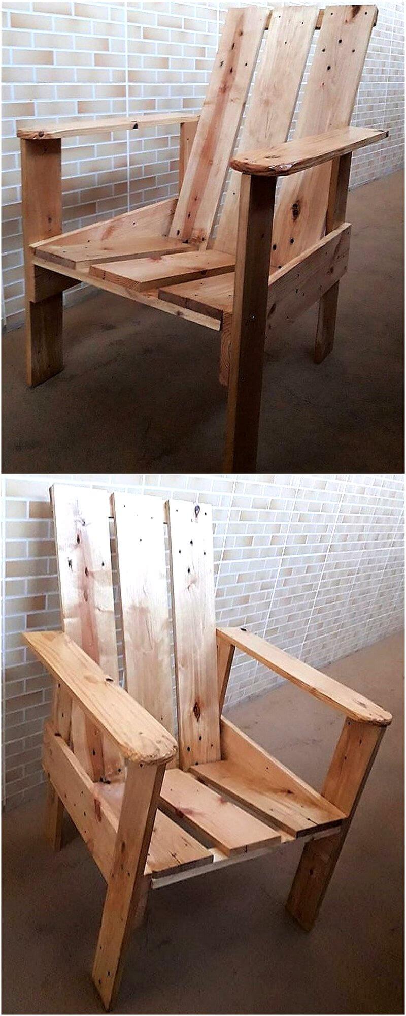 repurposed wood pallet chair