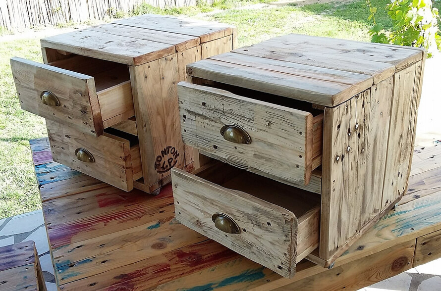 rustic pallets night stands