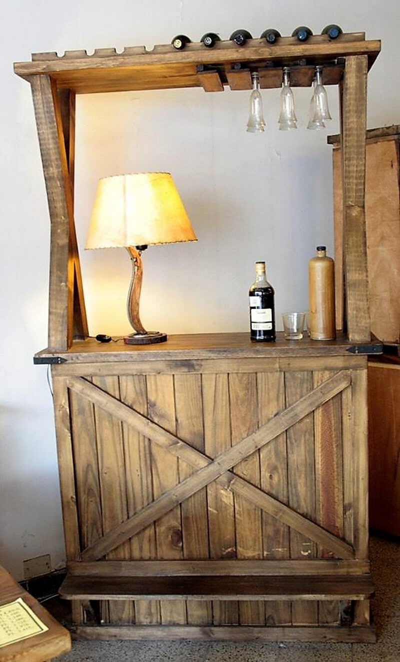 Awesome pallet ideas you can do it yourself at home for Bar en casa rustico