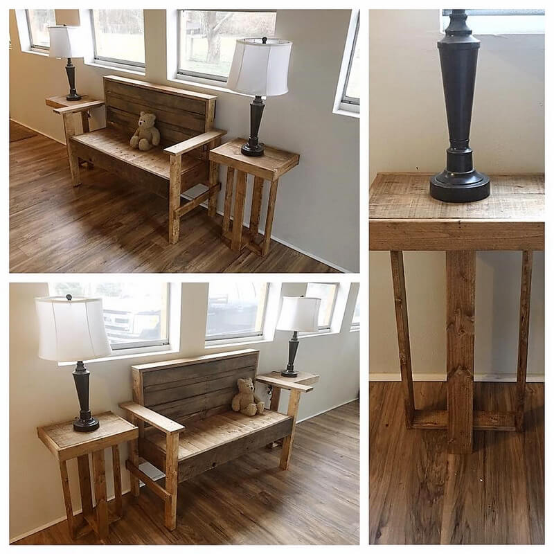 wood pallet entryway furniture
