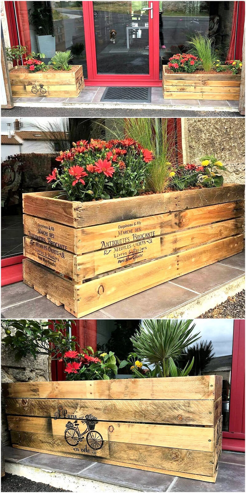 wood pallet made planters