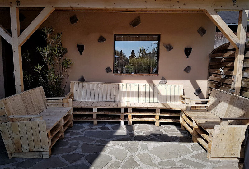 wood pallet patio lounge furniture
