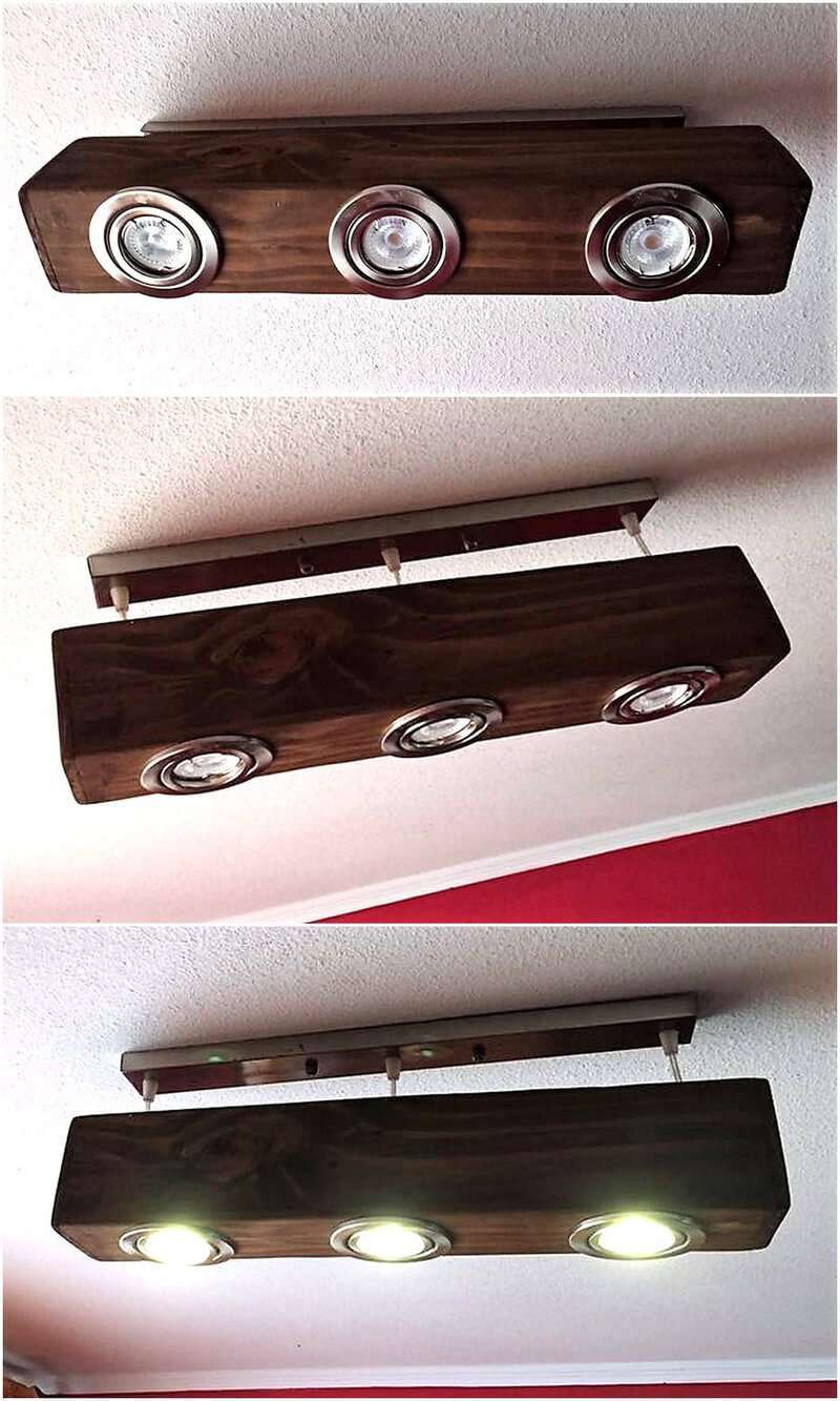 wood pallet roof lamp