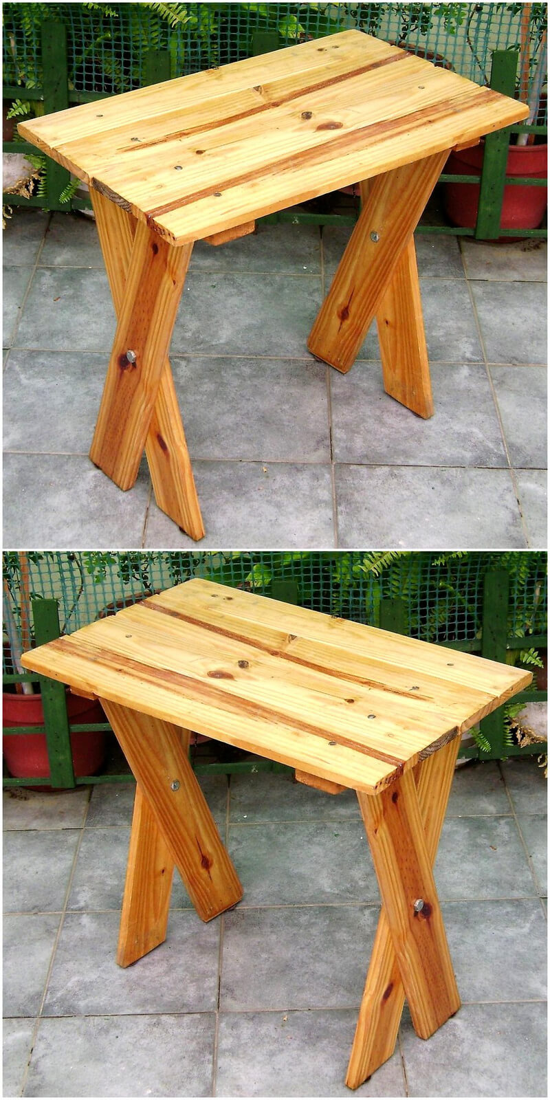 wooden pallet garden table