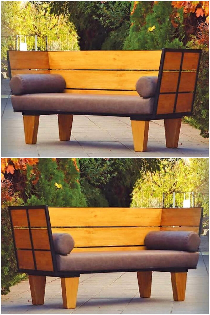 wooden pallet made patio couch