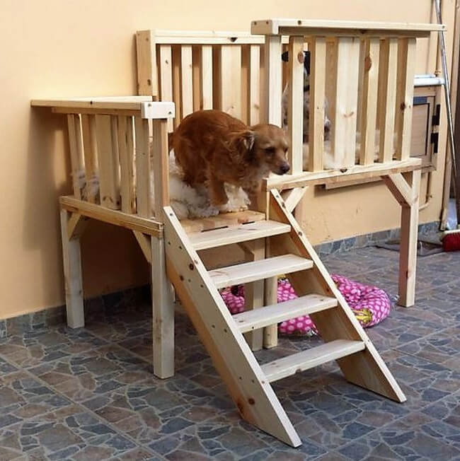 wooden pallets dog bed