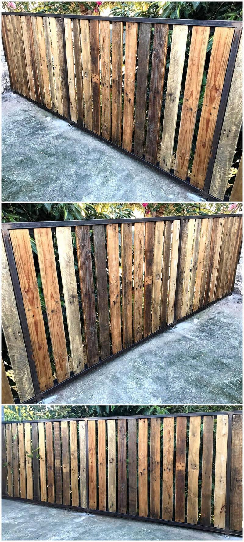 wooden pallets garden fence