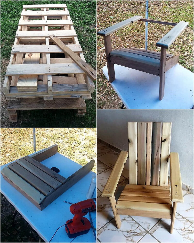 DIY Wood Pallet ADIRONDACK Chair